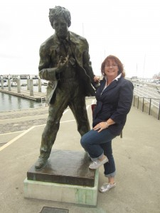 This is me with a statue of Jack London.